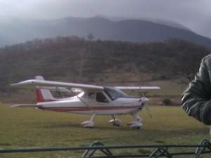 avionetta in partenza